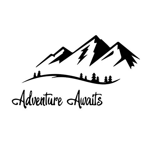 Brave Mountain Adventurer Sticker Car Window Decoration Personality PVC Waterproof Decal Black/White, 17cm*10cm