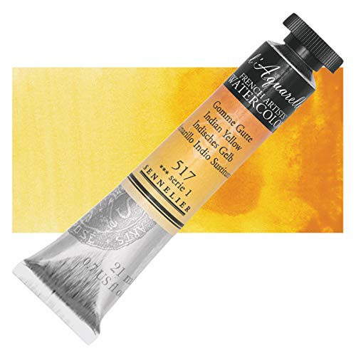 Sennelier L'Aquarelle French Watercolor, 21ml Tube, S1 Indian Yellow