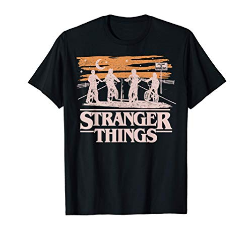 Netflix Stranger Things Night Silhouettes Camiseta
