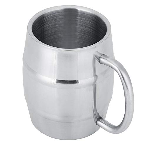 Mok Cup Roestvrij Staal Dubbele Laag Mok Koffie Bier Cup Wijn Drinken Glas Warmte Isolatie Huishoudelijke Hotels Restaurants Dessert Winkels Bars 420ml