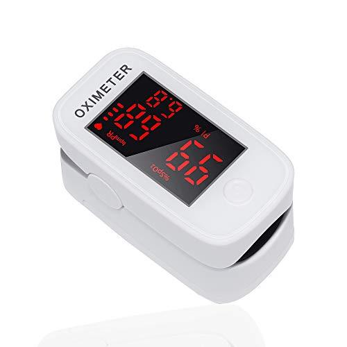 Pulsoximeter Oximeter – ShoRan Pulsfingerpulsoximeter SpO2 Sauerstoffsättigung Messgerät LED Anzeige Herzfrequenz Sauerstoffmessgerät für Sauerstoff Pulsmesser für Erwachsene & Kinder