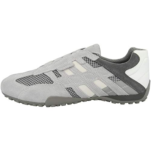 Geox Herren Uomo Snake F Sneaker, Grau (Lt Grey/Grey C1292), 48 EU