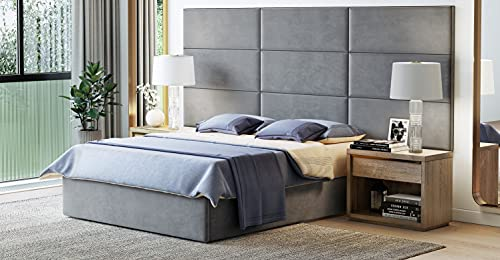 Customizable Upholstered Headboard Wall Panels - Set of 4, Easy Assembly, Panel Dimensions 39