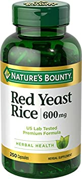 Nature s Bounty Red Yeast Rice Pills and Herbal Health Supplement Dietary Additive 600mg 250 Capsules