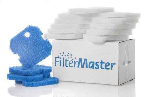 Filtermaster Aquarium-Wasserfilter BigPack Set 5 | Filter für EHEIM eXperience und Professionel 1 & 2 | Filtermatte & Filtervlies | Außenfilter