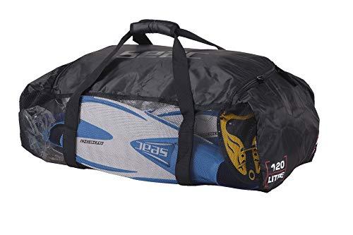 SEAC Equipage Net, Borsone in Rete Pieghevole e Leggero per Attrezzatura Subacquea Unisex Adulto, Nero, 70 x 45 x 30 cm