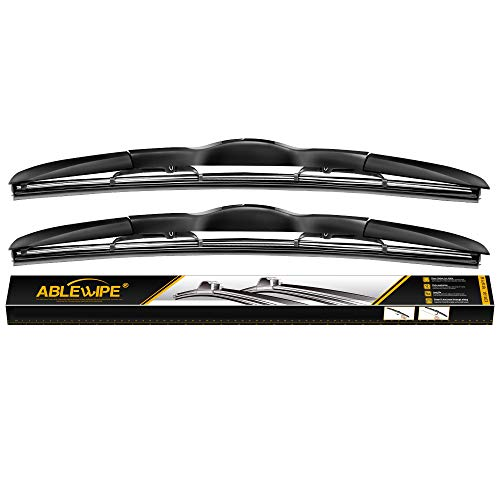 "ABLEWIPE Windshield wiper blades Hybrid Bracketless Beam wiper 26"" + 18"" Car Front Window Windshield wiper blades U J-hook NO.19223-3 (set of 2)"