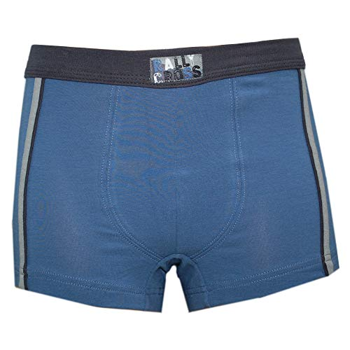 Sanetta - Jungenshorts Boxershorts Unterhosen, mittelblau, Größe 140