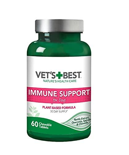 Vet's Best Immune Support Dog Supplement Fördert gesundes Immunsystem & saisonale Allergie Linderung (60 Tabletten)