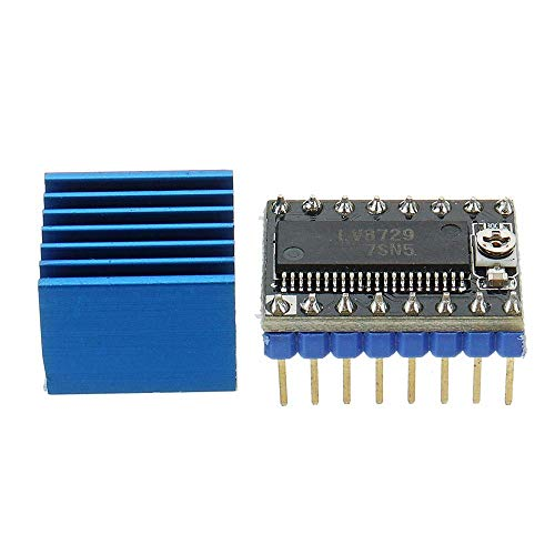 YELLAYBY Stepper Motor Driver Stepper Motor Driver Ultra-silent 4-laer Substrate MKS-LV8729 Support 6V-36V with Heatsink for 3D Printer 3D printer accessories Engraving Machine Automation