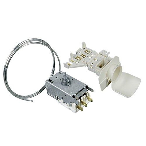 Thermostat Kühlthermostat Umbausatz mit Lampenfassung Kühlschrank Kühl-Gefrierkombination Original Ranco K59-S2785 690mm Kapillarrohr 2x4,8mm/1x6,3mm AMP Whirlpool 481228238175 Ersatz ATEA A13-0696R