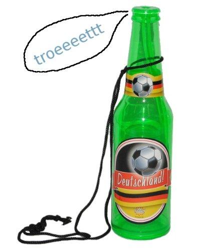 Tröte - als Bierflasche Deutschland - Kinder Fußball Kindergeburtstag - Party deutsche Bier Flasche Ball - Pfeife wie Trillerpfeife / Feife - Verein Sport SPI..