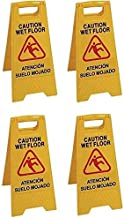 Alta visibilidad para evitar accidentes Se/ñal Aviso profesionalAtenci/ó terra mullat En Catal/à y Espa/ñol Atenci/ón suelo mojado