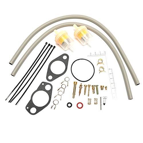 LZZJ Kit de reparación de carburador para Kawasaki 2500 2510 2520 reemplazar el número de pieza OEM 15003-2509 11009-2024 49121-2185 16030-2067 49123-2065