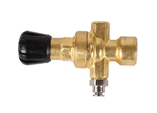 Druckminderer ohne Manometer für Schutzgas-Einwegflaschen Anschluss M10 x1 Schlauchaußendurchmesser 4mm (Druckregler)