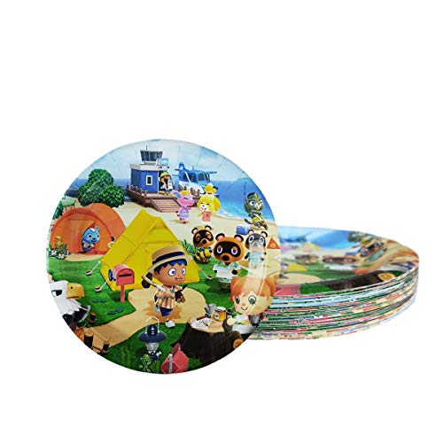 30 pcs Animal Crossing party plate ,Animal Crossing themed party supplies