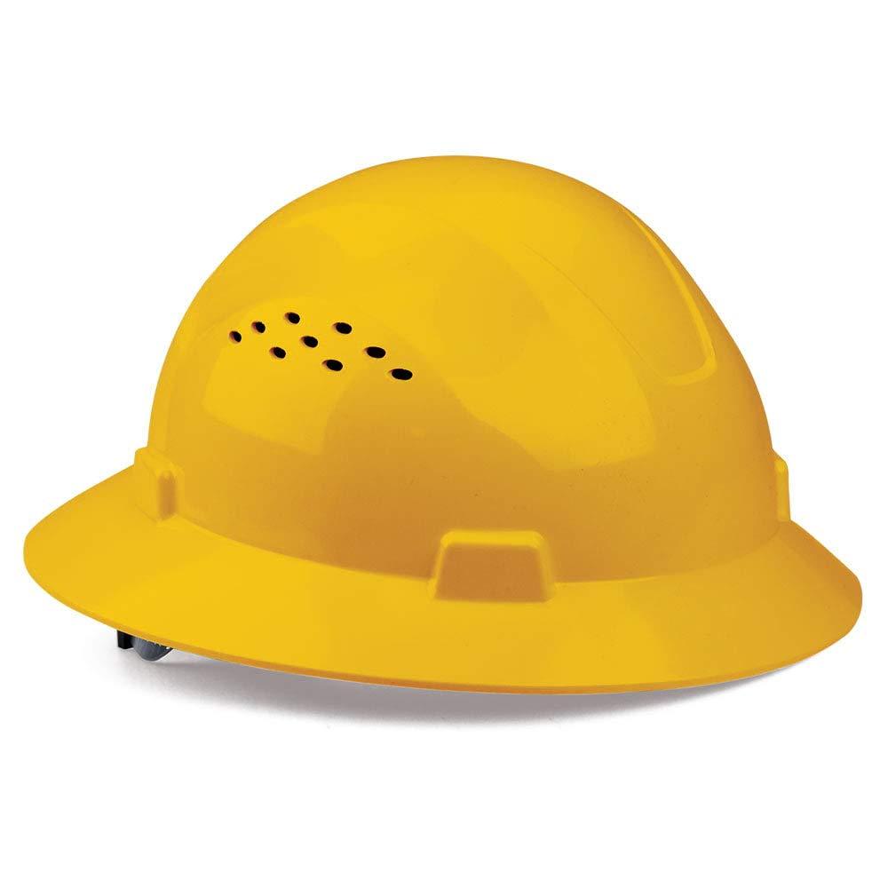 SAFEGEAR Yellow Superlatite Full Brim Hard Hat S with 4-Point Max 42% OFF Ratchet - Vent