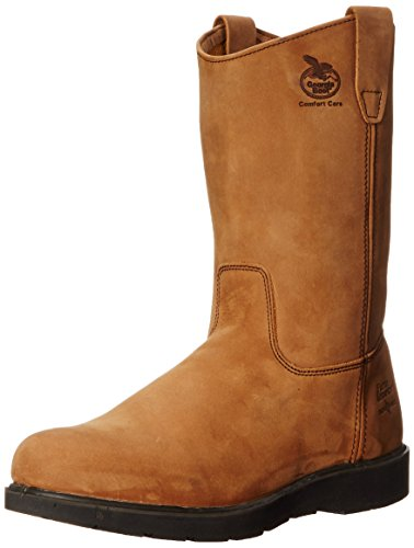 Georgia Men's G4432 Wellington-M Farm and Ranch, Mississippi Tan, 9.5 M US