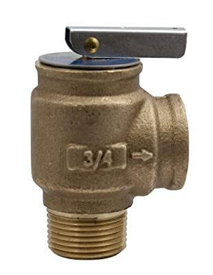 "Apollo Valve 10-400 Series Bronze Safety Relief Valve, ASME Hot Water, 30 psi Set Pressure, 3/4"" NPT Male x Female - 1040705 by Conbraco"