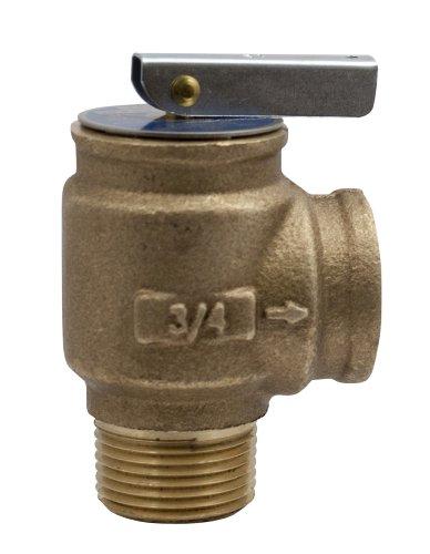 Apollo Valve 10-400 Series Bronze Safety Relief Valve, ASME Hot Water, 30 psi Set Pressure, 3/4