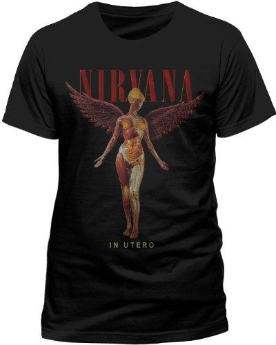 Live Nation - T-shirt Homme Nirvana - In Utero - Noir (Black) - Medium