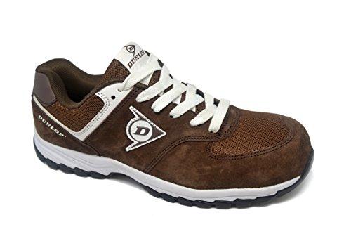 Dunlop DL0201027-44 Zapato, Piel de Ante y Mesh, Marrón, 44