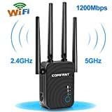 Ripetitore WiFi, 1200Mbps WiFi Extender Dual Band 5GHz 867Mbit/s 2.4GHz...