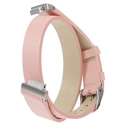 Hemobllo PU Leder Armband Leder Uhr Band Ersatz Rosa Armbanduhr Straps Leder Armband Uhr Dekoration Kompatibel für Fitbit ACE2