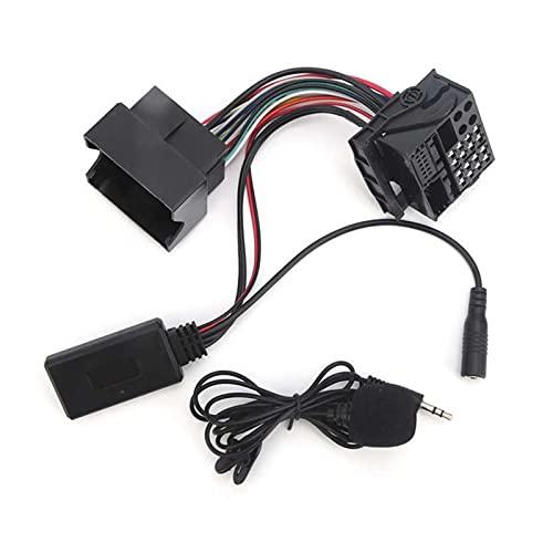 XIAO YANG Apto para Opel CD30 CDC40 CD70 DVD 90 12 Pin Bluetooth 5.0 Auxiliar Conector de Adaptador de Cable de Audio con micrófono Manos Libres 59.1 en Cable