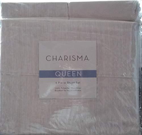 Charisma Microfiber 6 Piece Sheet Set (strie Wheat), Queen