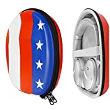 Geekria UltraShell Headphone Case for Bose QuietComfort QC35 II, QC25, QC15, Noise Cancelling Headphones 700, Replacement Protective Hard Shell Travel Carrying Bag with Room for Accessories (US Flag)