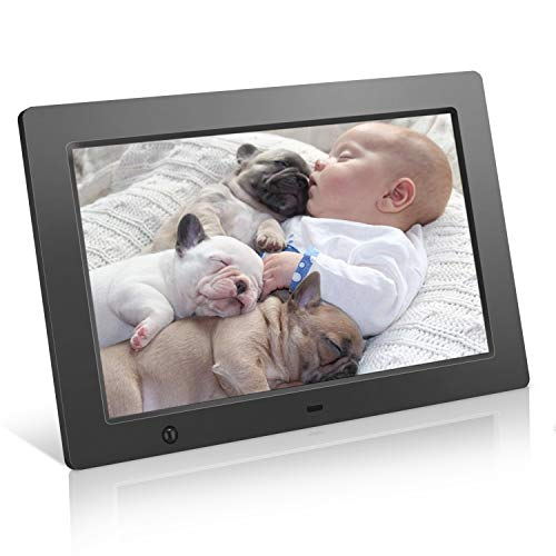 Digital Picture Frame 10.1 inch - Slideshow Electronic Photo Display with Motion Sensor and Auto-Rotation/180°HD IPS/Background Music/Calendar/Remote Control by FLYAMAPIRIT