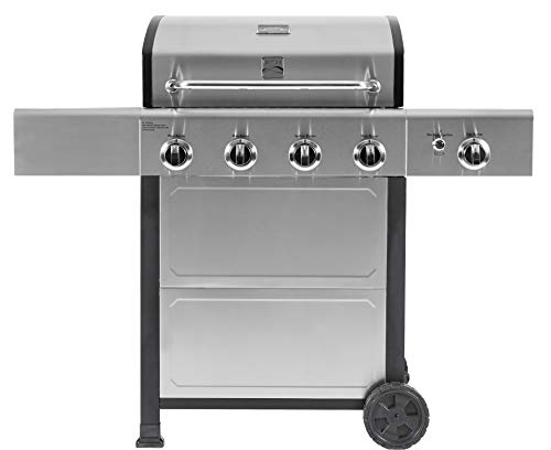 Kenmore PG-40406SOL-SE-AM 4 Burner Cart Style Grill, Stainless Grills Propane
