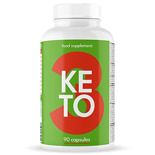 KETO ACTIVES con POTENTES RESULTADOS para Dieta Cetogénica - Controla tu Cetosis - Keto Light Original Rápido y Eficaz - Contiene Garcinia, L-Carnitina, Cafeína y Zinc - 90 Cápsulas KETO 3