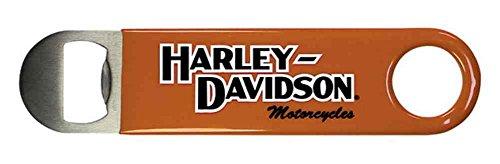 Harley-Davidson BO10338 - Apribottiglie in acciaio INOX e vinile arancione