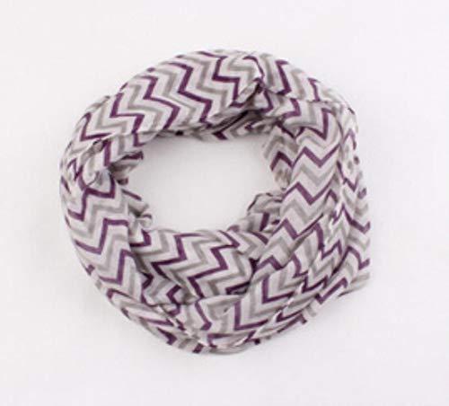 LASISZ Kerst Meisje Jongen Kinderen Chevron Wave Print Sjaal Cirkel Loop Kids Infinity Sjaals Baby Accessoires Kinderen Snood