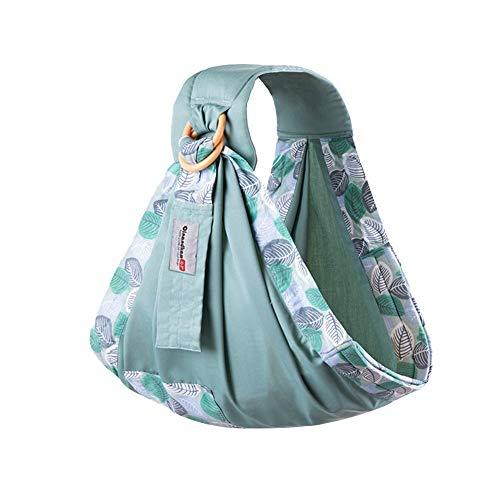 Carolilly Babytragetuch für Neugeborene, leicht zu tragen, verstellbares Tragetuch, mehrere Positionen, atmungsaktiv Einheitsgröße