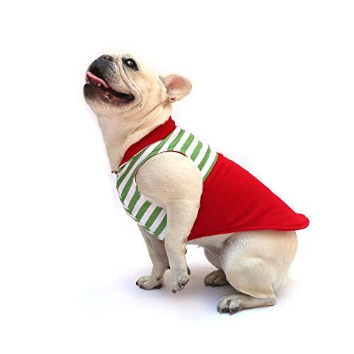 Marlo Suéter Polar para Perro Doble Vista, Comodo y abrigador. Ayudante de Santa. Talla 6