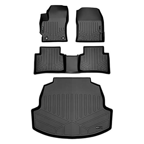 SMARTLINER Custom Fit Floor Mats 2 Rows and Cargo Liner Trunk Set Black for 2020 Toyota Corolla Sedan
