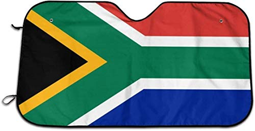 ChinaOEM South African Flag car Sun Shade, Windshield Sun Shade to Keep The Vehicle Cool The Best UV Sun Shade Protector can Prevent Your car from Direct Sunlight (Size: 27.5X 51)