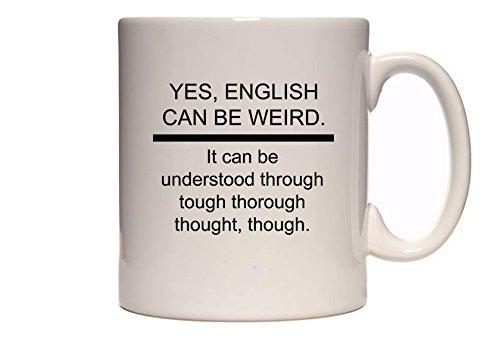 DottsMusic Sí, Inglés se Puede rígida. Funny Trabalenguas–diseño Texto en inglés té/Taza de café/Taza