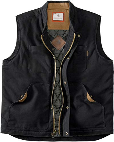 Legendary Whitetails Men's Concealed Carry Canvas Cross Trail Vest, Black, X-Large