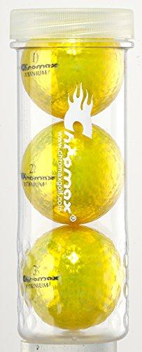 Chromax Golfbälle M1X, Orange, 3 Stück, M1X Golf Balls 3 Pack -Gold, Gold