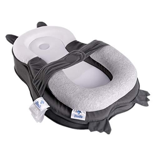 BESTLA Portable Baby Lounger Head Support Baby Bed Mattress Lounger for Newborn