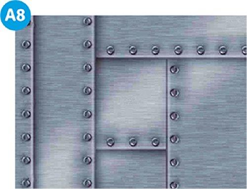 Verkleidung Pool * Aufkleber Außenwand * Swimmingpool Dekoration außen * Designbecken * Metall A8 * Höhe: 90 cm