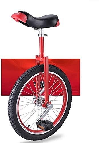 Bicicletas Monociclo Unicycle Para Niños Adultos 16/18/20 Pulgadas Rueda Unicycles Fork Manganese Steel Soporte, Sillín De Confort Estándar, Antideslizante Acrobacia Bicicleta De Acrobacia Deportes Al
