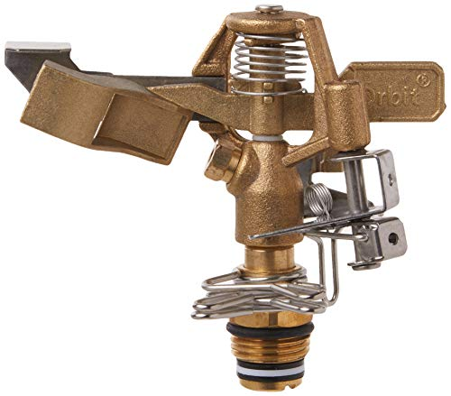 "Orbit 55032 1/2"" BRS Sprinkler Head, Connection, Silver and gold"