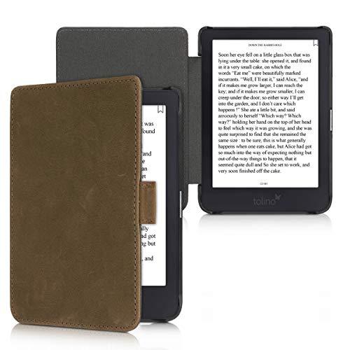 kalibri Tolino Shine 3 Hülle - Leder eBook eReader Schutzhülle Cover Hülle für Tolino Shine 3