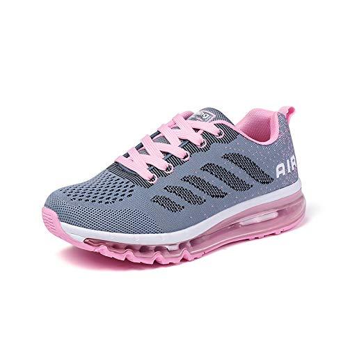 Donna Scarpe da Running Sportive Uomo Corsa Sneakers Ginnastica Outdoor Multisport Shoes graypink 41
