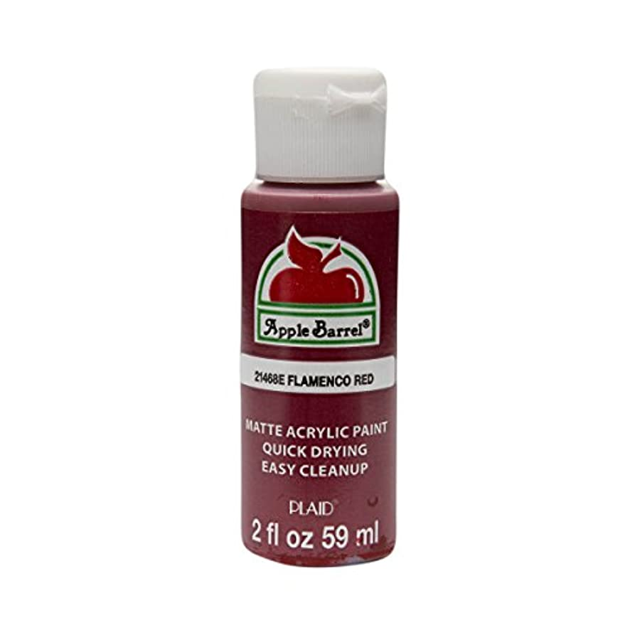 Apple Barrel Acrylic Paint in Assorted Colors (2 oz), 21468, Flamenco Red